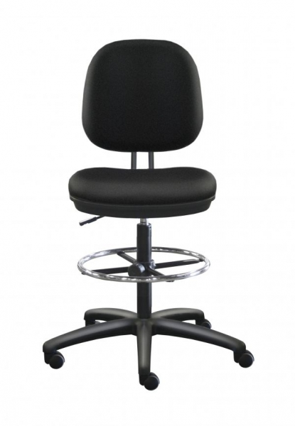Altos Drafting Chair (Black Vinyl)