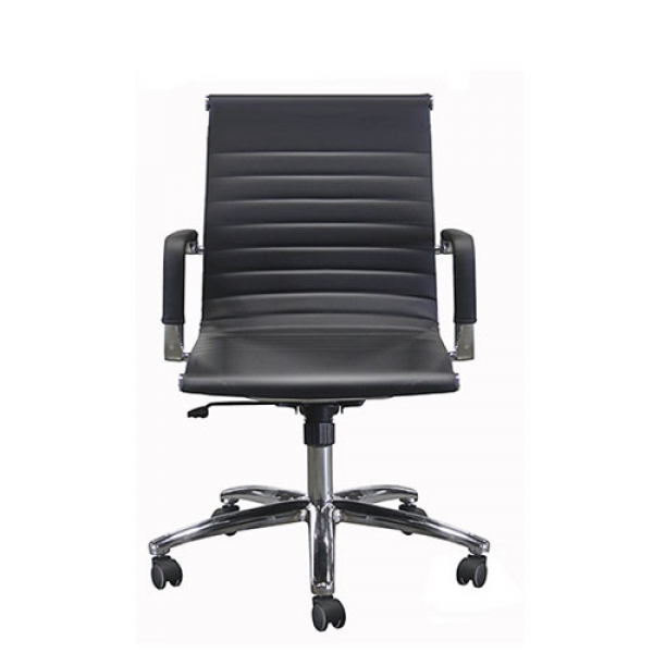 CONTEMPRA Conference mid-back bonded leather-Black