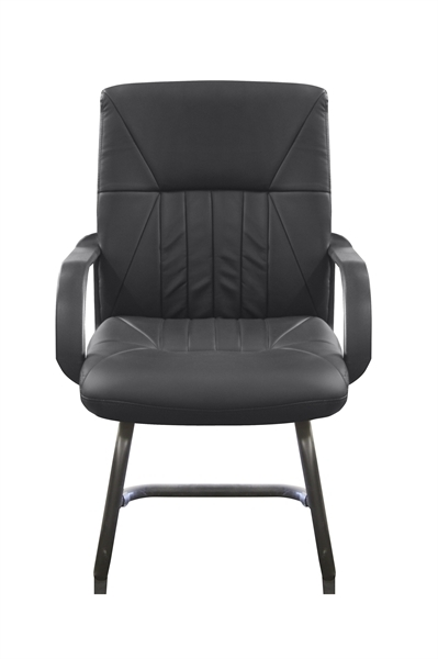 CORTINA BLACK  Guest Chair faux leather