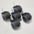 Hard Surface Casters - set of 5