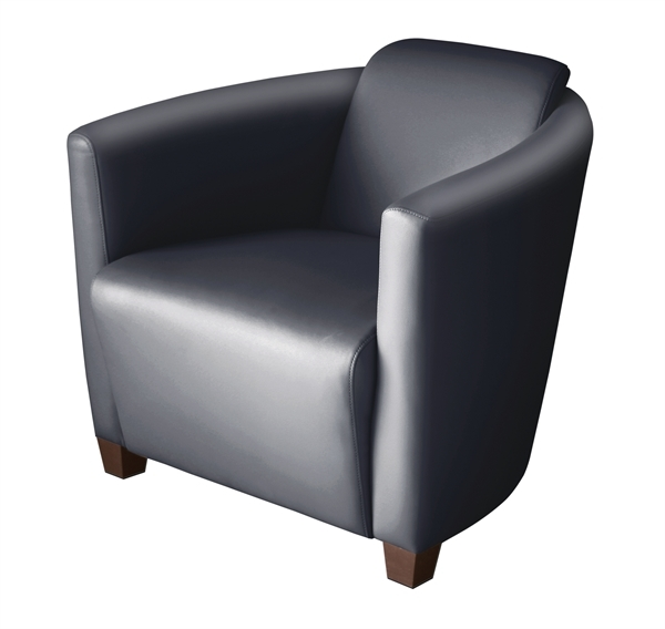 FLO Bonded Leather Accent Single Seat Club Chair