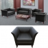 LYNDON BLACK Leatherette  Single Seat Sofa