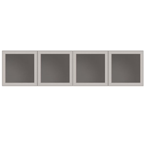 "TC - 65"" ALUMINUM & GLASS DOORS Set of 4"
