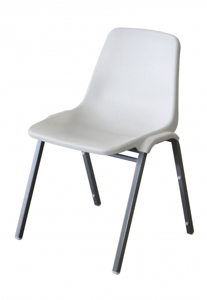 TUFFMAX BOLT Stackable Chairs-White