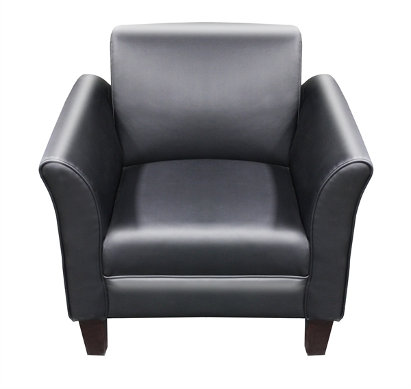 TRIGGS BLACK Bonded Leather Single Seat Sofa