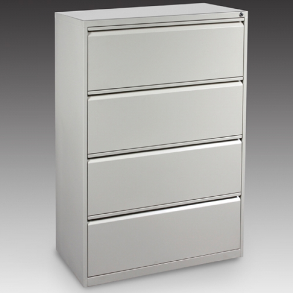 T950 Steel 4 Drawer Lateral File Cabinet