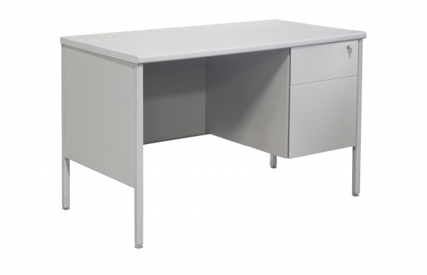 "TUFFMAXX Single Pedestal Steel Desk 24"" x 45"""