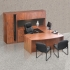 TIMELESS Bow Front Executive Workstation with Hutch and Storage Cabinet