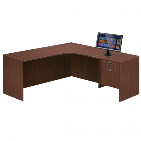 TIMELESS 66 inch Extended Workstation with Return and Box File Pedestal