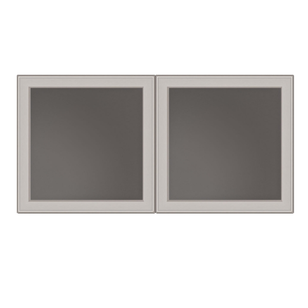 "TC - Glass doors 17.3"" W x 17.3"" H (Set of 2)"