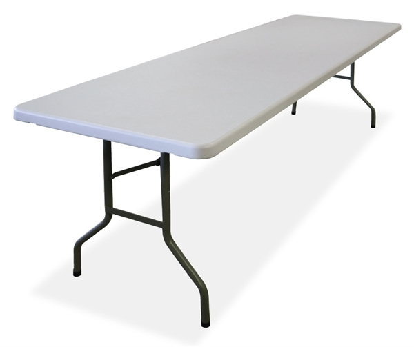 TUFFMAXX 8Ft. Rectangular Blow Mold Folding Table