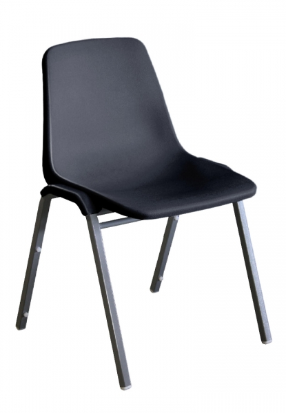 TUFFMAX BOLT Stackable Chairs-Black