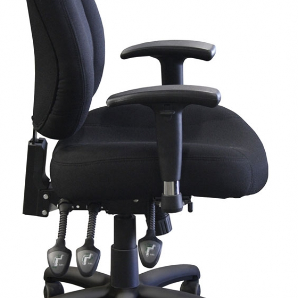 SEVILLE Ergonomic Multi-function Mid Back Fabric w/seat slider