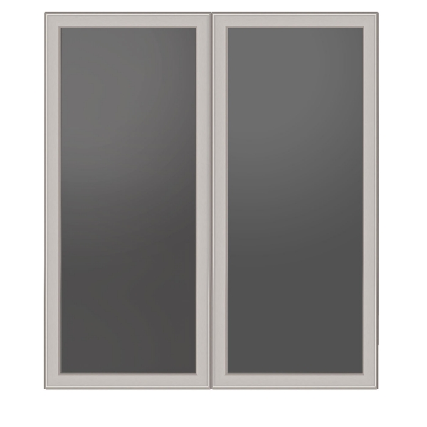 "TC - Glass doors 18"" W x 36"" H - For Stack-On Cabinet"