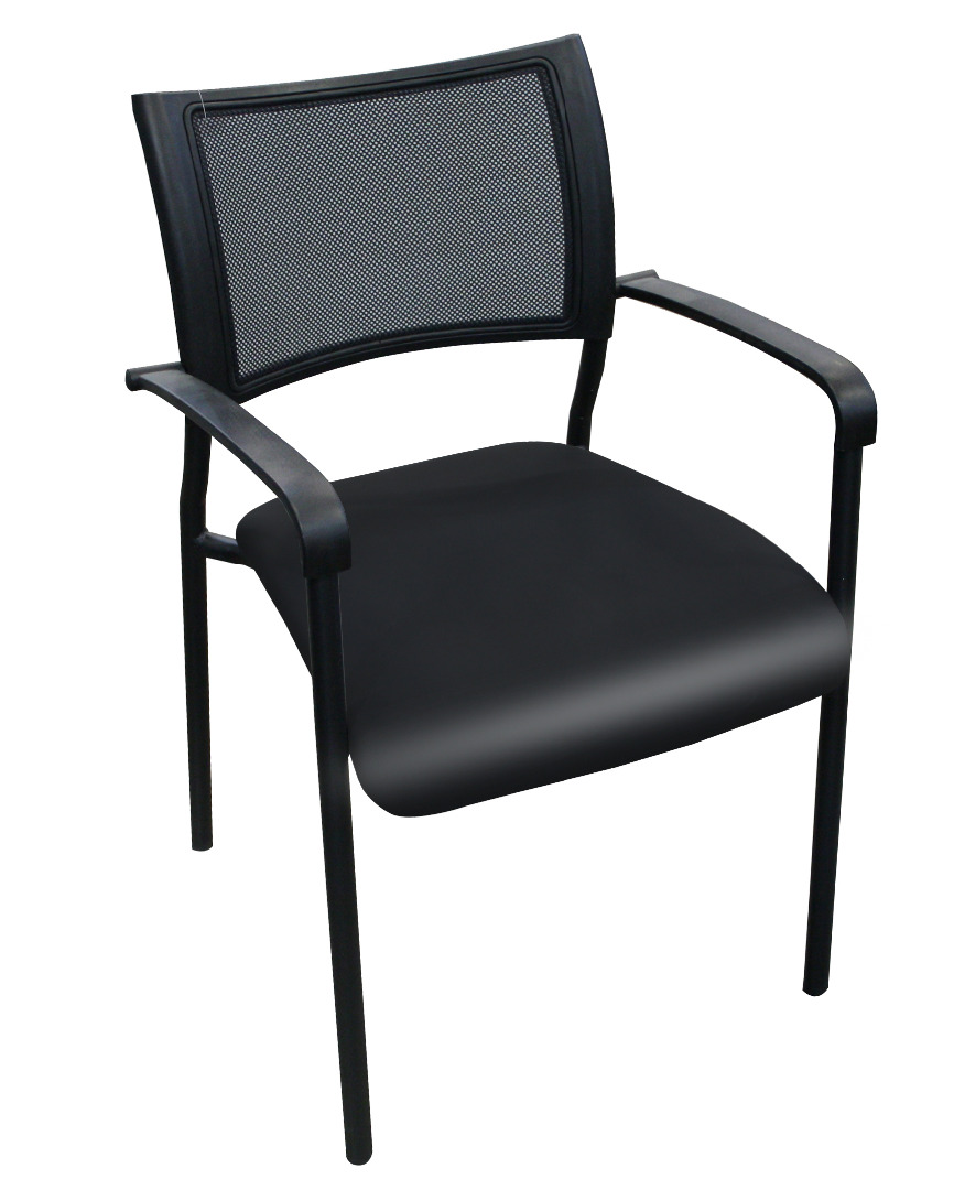 Kalor stacking chair vinyl seat with arms